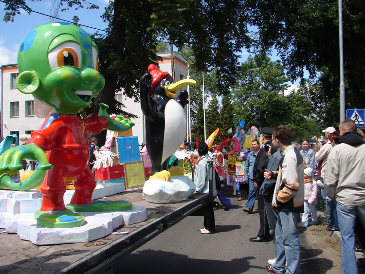 Characters in parade